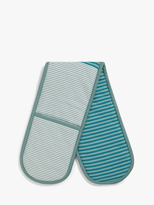 John Lewis & Partners Striped Double Oven Glove, Teal