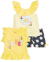 Nannette 3-Pc. Daisies Tank, T-Shirt and Shorts Set, Baby Girls (0-24 months)