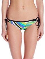 Trina Turk Women's Sunburst Loop Hipster Bikini Bottom