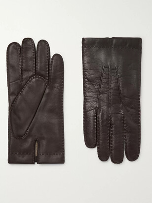 Dents Shaftesbury Touchscreen Cashmere-Lined Leather Gloves - Men - Brown