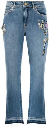 Escada Sport embroidered crop jeans