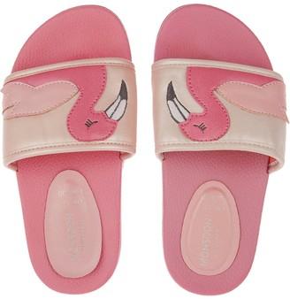 Monsoon Girls Floella Flamingo Slider - Pale Pink