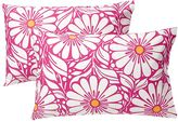 Daisy Dot Extra Pillowcases, Set of 2, Pink Magenta