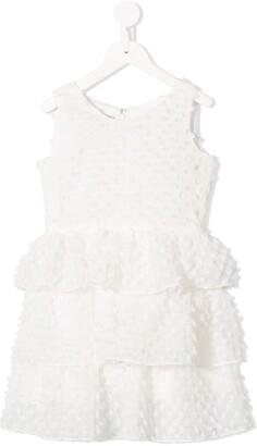 Little Bambah Fuzzy Ruffle Dress