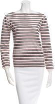 Prada Long Sleeve Striped Top