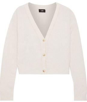 Line Brushed Merino Wool-blend Cardigan