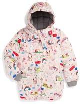 Dolce & Gabbana Toddler Girl's 'Disegni Bambina' Print Puffer Jacket