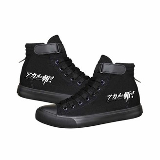 Ukaopjge Akame ga Kill Shoes Daily Wild Lacing Leisure Shoes High-top Shoes Comfortable Canvas Shoes Lightweight Sneakers Unisex (Color : Black06 Size : EU38 US7)