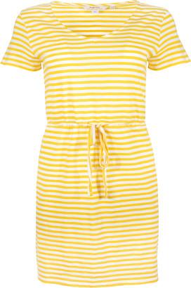 People Tree Ashby Yellow Striped Dress - cotton   yellow   striped   14 (UK) - Yellow/Yellow