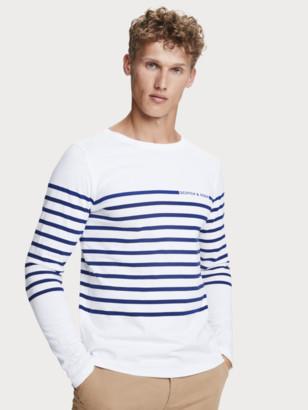 Scotch & Soda 100% cotton Breton stripe long sleeve t-shirt   Men