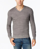 Tommy Hilfiger Men's Textured Streaked V-Neck Sweater