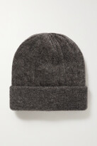 Thumbnail for your product : Brunello Cucinelli Bead-embellished Metallic Cable-knit Beanie - Gray