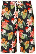 Topman Black Hawaiian Floral Board Shorts