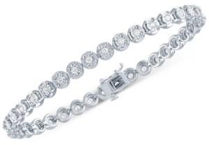 Forever Grown Diamonds Lab Grown Diamond Tennis Bracelet (1 ct. t.w.) in Sterling Silver