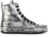 Ann Demeulemeester metallic hi-top sneakers