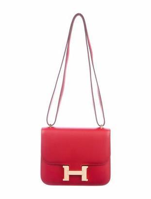 Hermes 2019 Evercolor Mini Constance 18 Rouge