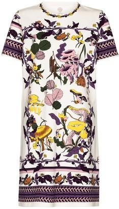 Tory Burch Printed cotton jersey minidress