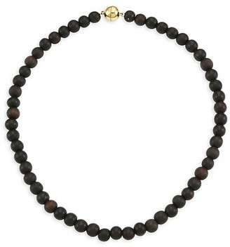 Maria Canale Voyageur 18K Yellow Gold & Wood Bead Necklace