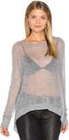 Autumn Cashmere Hanky Hem Boatneck Sweater