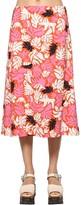 Marni Printed Viscose Crepe Midi Skirt