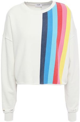 RE/DONE Distressed Printed French Cotton-terry Sweatshirt