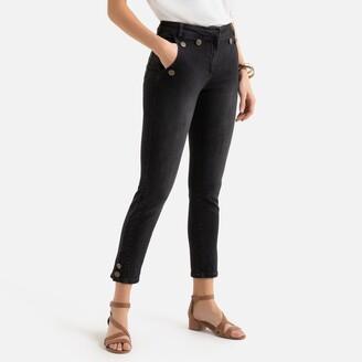 "Anne Weyburn Slim-Fit Ankle Grazer Jeans, Length 27.5"""