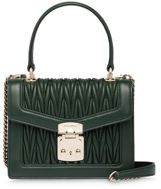 Miu Miu Confidential matelasse-effect tote bag