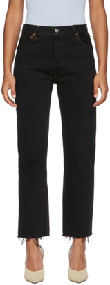 RE/DONE Black Levis Edition High-Rise Stove Pipe Jeans