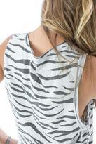 Ragdoll LA VINTAGE MUSCLE TANK White Zebra