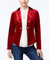XOXO Juniors' Velvet Military Blazer