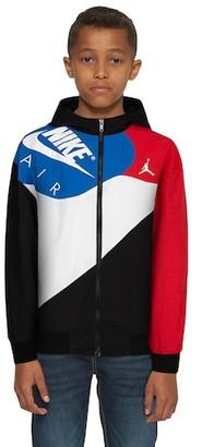 Jordan Legacy Retro 4 Lightweight Jacket - Black / Military Blue Red / White