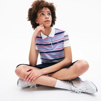 Lacoste Women's Classic Fit Striped Cotton Polo Shirt
