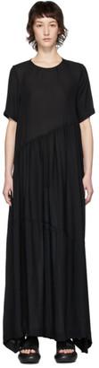 Collina Strada Black Silk Charlie Engman Edition Ritual Dress