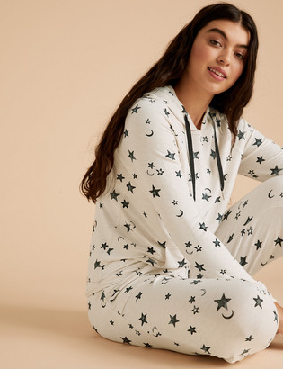 Marks and Spencer Flexifit Star Print Lounge Cuff Jogger