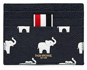 Thom Browne Elephant Leather Card Case