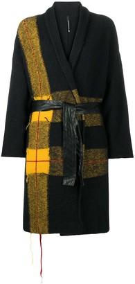 Pierantonio Gaspari Plaid Panel Coat