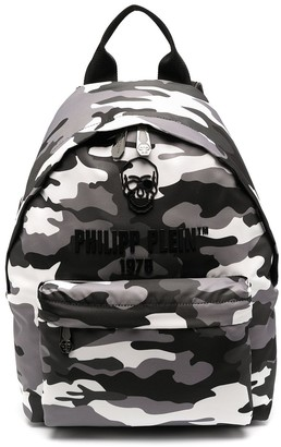 Philipp Plein Camouflage Backpack