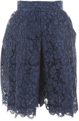Prada Navy Cotton Shorts