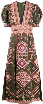 Ulla Johnson Amaria geometric-embroidered dress