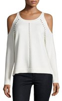 Ramy Brook Maya Studded Cold-Shoulder Sweater