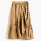 J.Crew Ruffle wrap skirt in cotton poplin