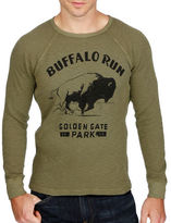 Lucky Brand Buffalo Printed Textured Tee