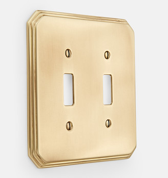 Rejuvenation Deco Double Toggle Switchplate