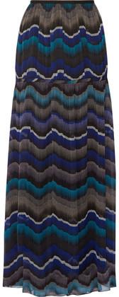 Diane von Furstenberg Isadorra Printed Silk-Chiffon Maxi Skirt