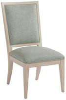 Barclay Butera Eastbluff Side Chair - Sea Glass frame, whitewash; upholstery, sea glass