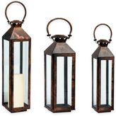 Cambridge Silversmiths Classic Lantern Candle Holder in Brushed Copper