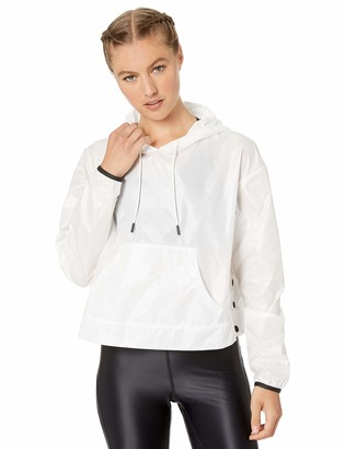 Core 10 Water-resistant Patch Front Pocket Anorak Jacket White XS (0-2)