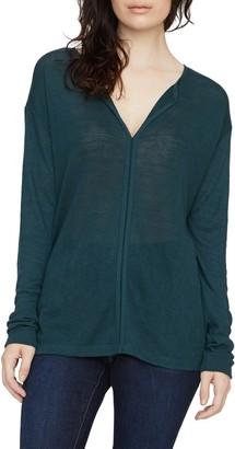 Sanctuary Elina Split Neck Long Sleeve T-Shirt (Regular & Petite)