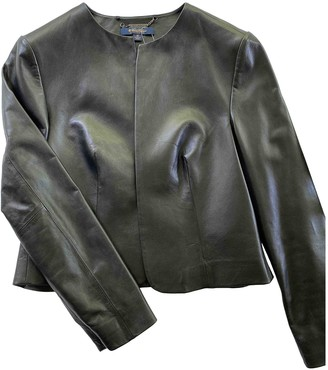 Brooks Brothers Black Leather Jacket for Women