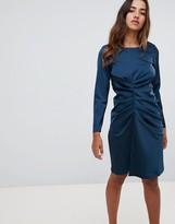 Closet London asymmetrical draped dress